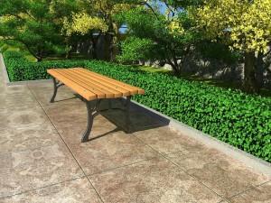 Скамейка садовая двухстоечная